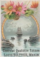 Menin , Menen , Petite Carte Pubblicité , Louis Diltoer , Chocolat Quatorze Tasses , : 10,4 X 7,4 Cm - Menen