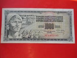 X1- 1000 Dinara 1974.Yugoslavia- Circulated. - Yugoslavia