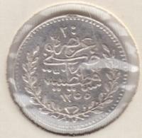 @Y@  Turkije    20  Para  1255  /  13         (4545)  Zilver  / Ag - Türkei