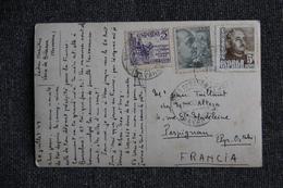 Timbres Sur Carte Postale De FUENTERRABIA ( ESPAGNE) Vers PERPIGNAN ( FRANCE) - 1931-50 Briefe U. Dokumente