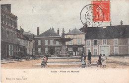 CPA AVIZE (51) PLACE DU MARCHE - ANIMEE - COLORISEE - France
