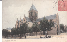 CPA AVIZE (51) L' EGLISE - ANIMEE - COLORISEE - France