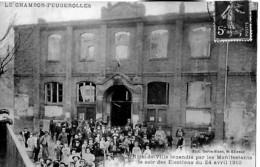 42 CHAMBON FEUGEROLLES HOTEL  De VIILLE  Incendie Du 24 Avril 1910 - Le Chambon Feugerolles