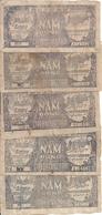 VIET NAM  5 DONG ND1948 VG+ P 17 ( 5 Billets ) - Viêt-Nam