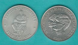 Samoa - Tunamafili II - 1981 - Charles & Diana Royal Wedding (KM43) Roosevelt IYDP (KM47) - Samoa