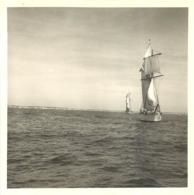 BATEAU VOILIER PHOTOGRAPHIE ORIGINALE FORMAT  8.50 X 8.50 CCM - Barche
