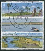 Namibia 2003 Feuchtgebiete Des Flusses Cuvelai 1106/08 Gestempelt - Namibie (1990- ...)