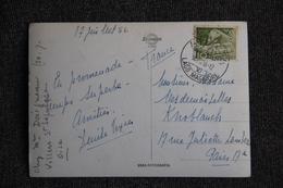 Timbre Sur Carte De SUISSE ( ASCONA ) Vers PARIS Et Représentant El DUOMO De MILAN - Suisse