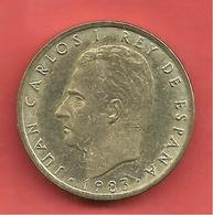 100 Pesetas , ESPAGNE , Aluminium-Bronze , 1983 , N° KM # 826 , N° Y # 139 - [ 5] 1949-… : Royaume