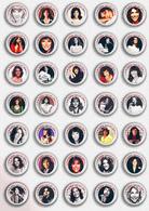 35 X Karen Carpenter Music Fan ART BADGE BUTTON PIN SET 2 (1inch/25mm Diameter) - Music