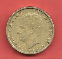 100 Pesetas , ESPAGNE , Aluminium-Bronze , 1985 , N° KM # 826 , N° Y # 139 - [ 5] 1949-… : Royaume