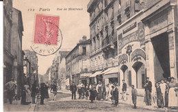 CPA PARIS (75) RUE DE MONTREUIL - BELLE ANIMATION - MAGASIN DE MEUBLES Et DE SIEGES à DROITE - Arrondissement: 11