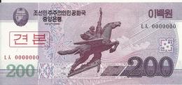 COREE DU NORD 200 WON 2008 UNC P 62 S - Corée Du Nord