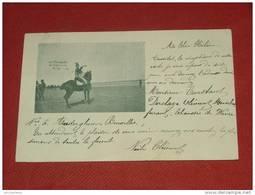 MILITARIA  -    - CAMP DE BEVERLOO ?  - Un Trompette De Lanciers Belge   -  1902  -  (2 Scans) - Manoeuvres