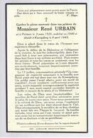 PIEUX SOUVENIR URBAIN ° PETITVOIR 1920 MOBILISE 1940 + KOENIGSBERG 1945 TUE PAR UN SOLDAT RUSSE GUERRE 1940 1945 - Images Religieuses