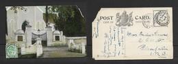 South Africa, Dutch Reformed Church  Swellendam, Used, 1/2d,,ROBERTSON 29 DE 09 > BLOEMFONTEIN O.R.C.. - South Africa