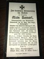 Sterbebild Wk1 Ww1 Bidprentje Avis Décès Deathcard IR16 1918 CAMBRAI Einzelgrab Nr. 2450 Aus Breitenried - 1914-18