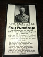 Sterbebild Wk1 Ww1 Bidprentje Avis Décès Deathcard RIR2 ST. LAURENT BLANGY ARRAS Block 2 Grab 1083 Aus Flossing - 1914-18