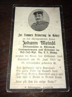 Sterbebild Wk1 Ww1 Bidprentje Avis Décès Deathcard RIR2 ARRAS Juni 1915 Aus Essenbach - 1914-18