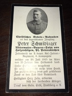 Sterbebild Wk1 Ww1 Bidprentje Avis Décès Deathcard RIR2 Juli 1915 Aus Holzenhilgen - 1914-18