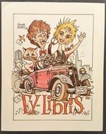 Ex-libris Patrick HAMM Par Claude BURET, Illustrateur Alsacien - Alsace - 1987 -TB (9 X 11,5 Cm)  /E8 - Ex-libris
