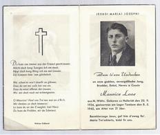 UNDENKEN M. LOOS AUS N. WOLTZ ° HOLLERICH 1924 + LAGER TAMBOW 1945 - Images Religieuses