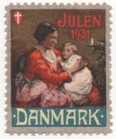 Denmark 1931, Julemaerke, Christmas Stamp, Vignet, Poster Stamp - Denmark
