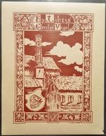 Ex-libris Charles VOGEL Par F. ZELLER, Illustrateur Alsacien - Alsace -TB (9,4 X 12,2 Cm)  /E9 - Ex-libris
