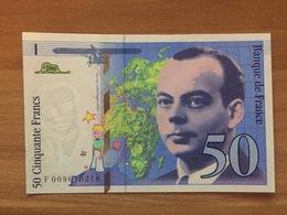 Billet 50 Francs SAINT-EXUPERY 1993 - F009610218 Neuf Non Plié - 1992-2000 Dernière Gamme