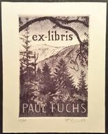 Ex-libris Paul FUCHS Par Frédéric KUHLMANN, Illustrateur Alsacien -Alsace 1983 - Signé Numéroté - TB (10 X 12,5 Cm) /E10 - Ex-libris