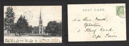 South Africa, Dutch Reformed Church Graaf Reinet , , Used, 1/2d,  GRAAF REINET  DE 22 04 > CAPE TOWN (front) - South Africa