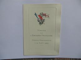 Marine De Guerre - Carte Commémorative Visite De L' Escadre Française COWES - PORTSMOUTH  7 14 Aout 1905- Stren Paris - Historical Documents