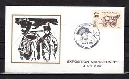 """"""" EXPOSITION  NAPOLEON 1er """" Sur Enveloppe Commémorative De 1986. N° YT 2410 Parfait état. - Napoleon"""