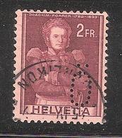 Perfin/perforé/lochung Switzerland No 379 1941 Historical Representation   Perfin .Ö  Maschinenfabrik Oerlikon - Perforés
