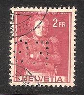 Perfin/perforé/lochung Switzerland No 379 1941 Historical Representation   Perfin F.G Gondrand Frères - Perforés