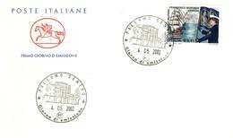 FDC Cavallino Italia Repubblica 2002 - Scuola Navale Militare Francesco Morosini. - 6. 1946-.. Repubblica