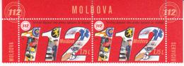 2019 , Moldova  Moldavie  Moldawien  Moldau  , National Call Cervice - 112 , Medicine , Police , 2 V. , MNH - Moldova