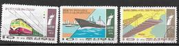 COREA DEL NORD 1974   MEZZI DI TRASPORTO YVERT. 1199-1201 USATA VF - Corea Del Nord