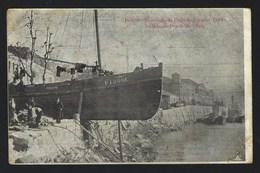 Postal Antigo:  PORTO Recordação Da Cheia Dezembro 1909 ALFANDEGA. Edição Tabacaria Vareirense. PORTUGAL - Porto