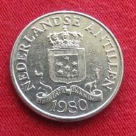 Netherlands Antilles 25 Cents 1980 KM# 11  Antillen Antilhas Antille Antillas - Antilles Neérlandaises