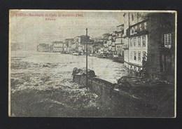 Postal Antigo:  PORTO Recordação Da Cheia Dezembro 1909 RIBEIRA. Edição Tabacaria Vareirense. CHEIAS Rio Douro PORTUGAL - Porto