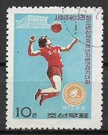 COREA DEL NORD 1973 TORNEO DI PALLAVOLO YVERT. 1050 USATO VF - Corea Del Nord