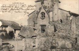 D69  LYON 6ème Rue Boileau Cachet Hôpital Complémentaire N°40 Sur Carte De St Julien Meuse - Marcophilie (Lettres)