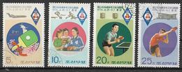COREA DEL NORD 1976 CAMPIONATO ASIATICO DI PINGPONG YVERT. 1364-1367 USATA VF - Corea Del Nord