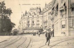 SUISSE VD  LAUSANNE  Place Bel Air  ......... Avec La Banque Populaire Suisse - VD Vaud