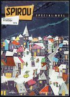 """SPIROU N° 1131 -  Année 1959 - N° Spécial Noël - Couverture-poster """" Ville Enneigée """" De RYSSACK. - Spirou Magazine"""