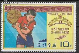 COREA DEL NORD 1975 CAMPIONATO DEL MONTE DI PINGPON YVERT. 1288 USATO VF - Corea Del Nord