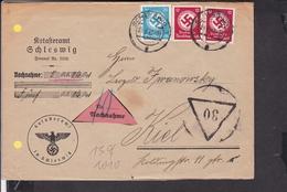Brief Deutsches Reich Dienstmarken Stempel Schleswig  1942 - Briefe U. Dokumente
