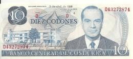 COSTA RICA 10 COLONES 1986 UNC P 237 B - Costa Rica