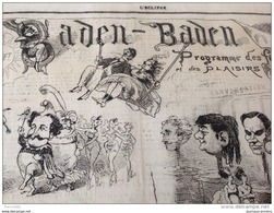 1869 Journal L'ECLIPSE N° 79 - BADEN BADEN - COMME ÇA SE JOUE Par GILL - OIE - Zeitungen